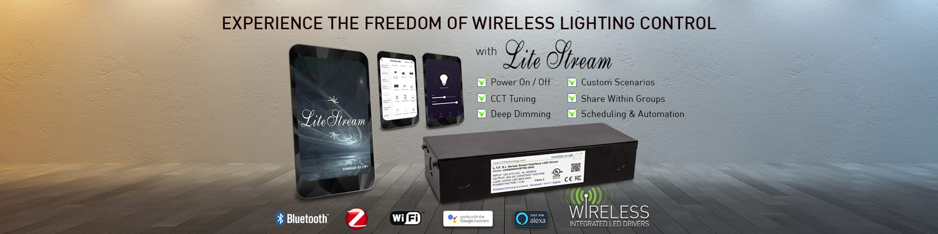 Experience the Freedom of Wireless Lighting Control with Lite Stream