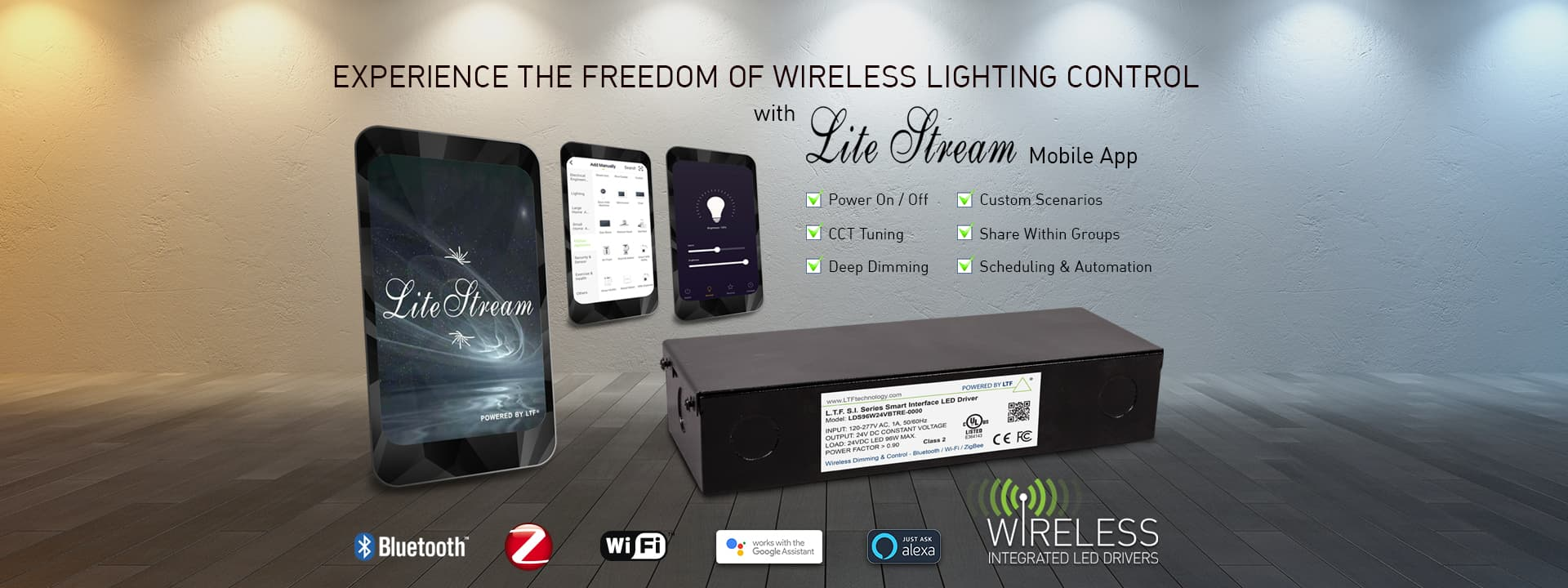 Experience the Freedom of Wireless Lighting Control with Lite Stream Mobile App
