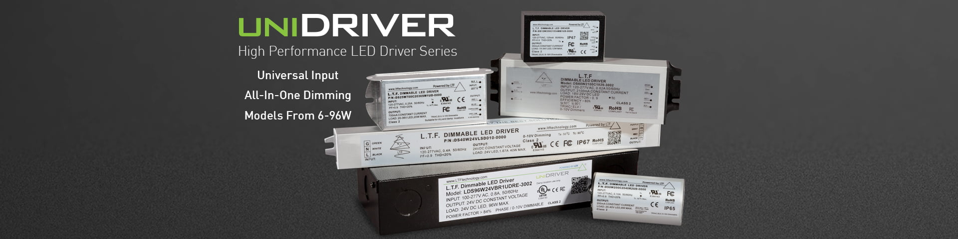 unidriver-flicker-free-elv-triac-0-10v-dimming-universal-input-120v-277vac-constant-current-constant-voltage-led-drivers