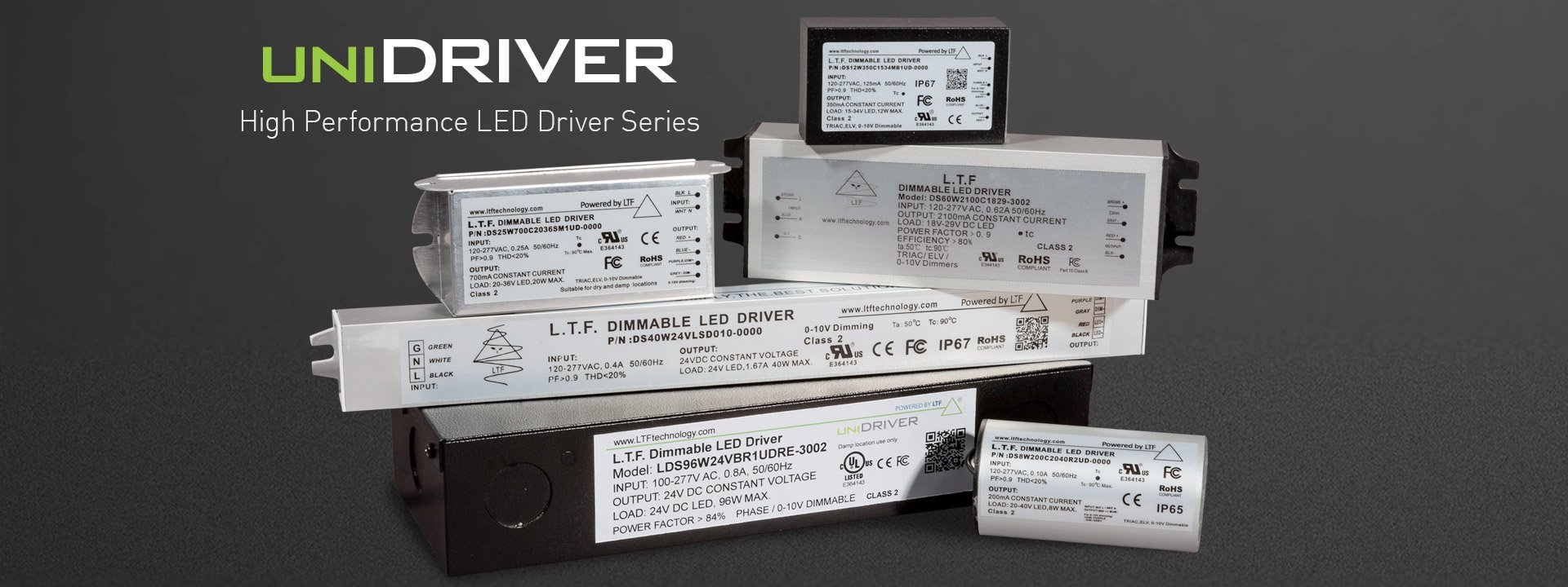 LTF's UniDriver Universal Input Universal Dimming High Performance LED Driver Series