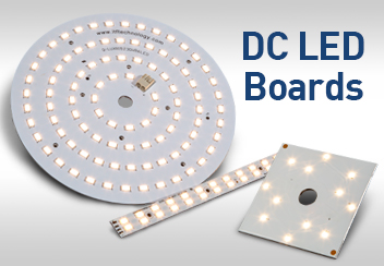 QLUX Architectural Grade DC Linear Round Square LED Boards 90 CRI 50,000 Hour Warranty
