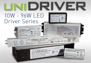 UniDriver LED Driver Series 6-96W Universal Input 100-277V Tri Mode Dimming ELV Triac 0-10V