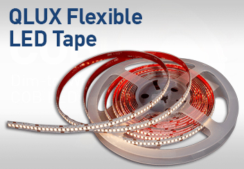 QLUX Premium Architectural Grade High CRI Dim to Warm Color Tunable Flexible LED Tape Series