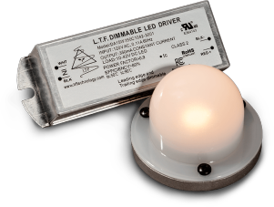 QLUX COB Kit Includes DA15W LED Driver 12x15mm COB LED with Dim to Warm and High CRI