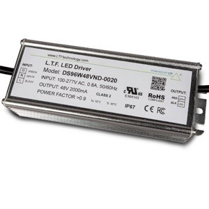 DS96W48VNDL20-0020 Aluminum 96W Universal Input 100V-277V 48V Constant Voltage Non-Dimmable LED Driver