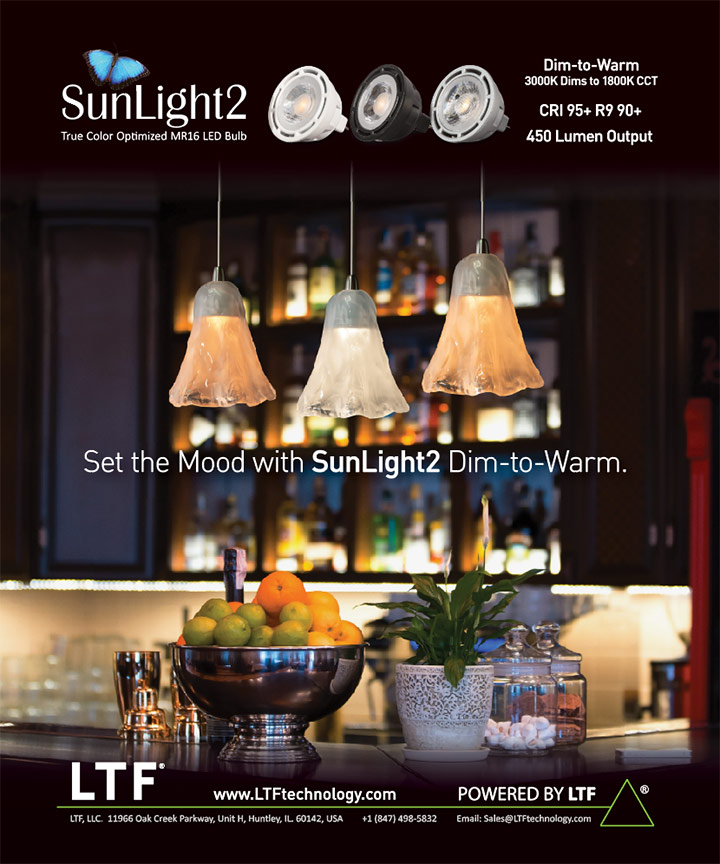 LTF News and Press Releases Full Page Print Ad in Lighting and Decor Magazine
