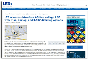 LTF News and Press Releases DOBi AC Line Voltage LED Boards Press Release LEDs Magazine