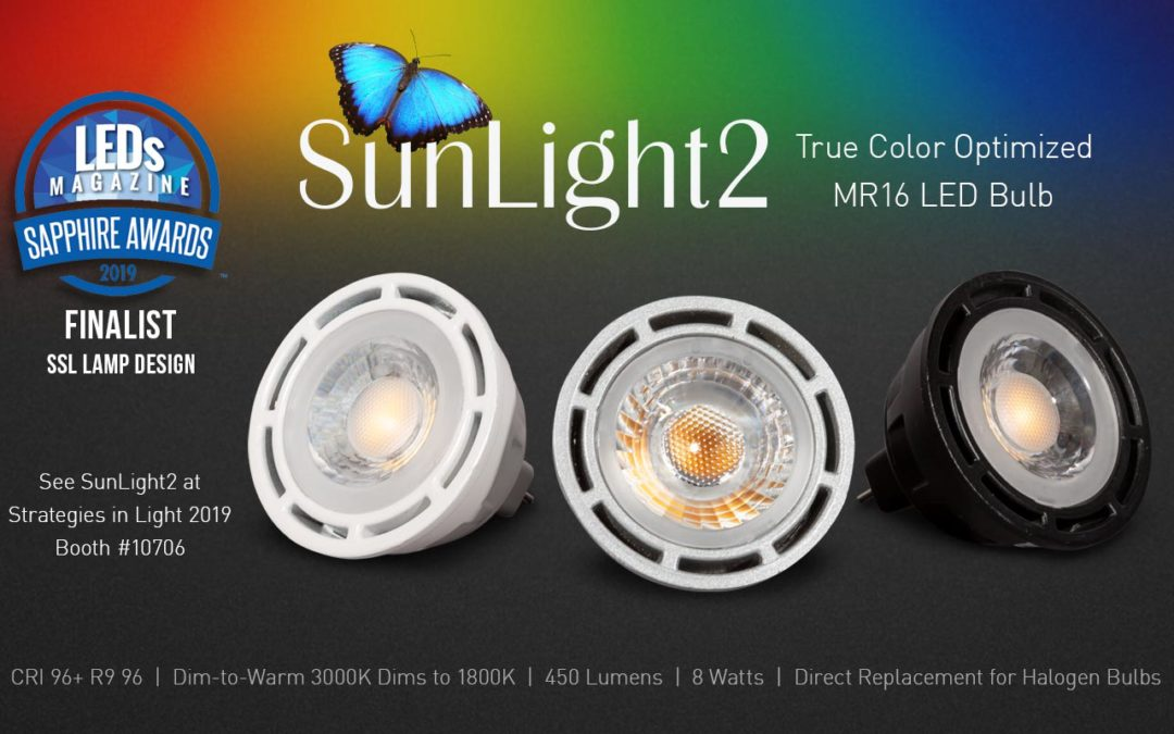 LTFs SunLight2 True Color Optimized MR16 LED Bulb Sapphire Awards Finalist 2019