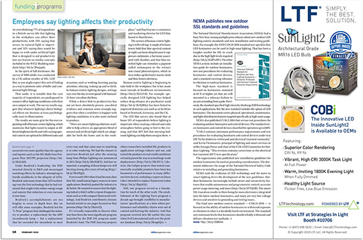 LTF News and Press Releases SunLight2 Banner Ad on LUX Magazine