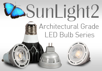 SunLight2 Series Architectural Grade High CRI Dim to Warm LED Bulbs MR16 GU10 PAR20 PAR30