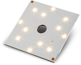 QLUXS5715W12LED 57mm square 15W 36V DC CSP LED Board