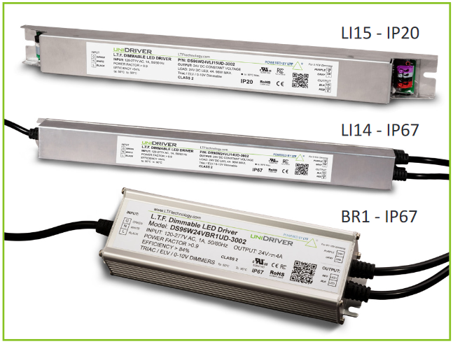 96 Watt DS96W UniDriver Series Universal Input All in One Dimmable Constant Current Constant Voltage LED Driver BR1 LI14 LI15