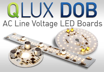 QLUX DOB Architectural Grade AC Line Voltage Driver on Board LEDs Linear Round