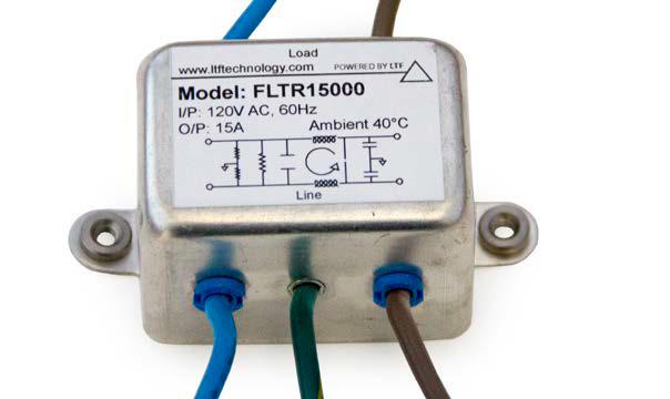 LTF EMI Filter FLTR15000 120V AC 60Hz Input 15A Max Output