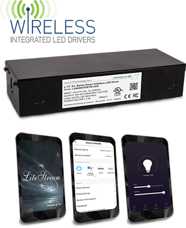 SI Series Wireless Integrated LED Drivers and Lite Stream Lighting Control App