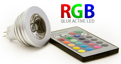 QLUX Active RGB MR16 LED Bulb with IR Remote