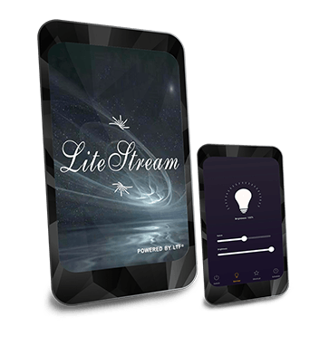 Lite Stream Mobile App Wireless Bluetooth Control and Dimming