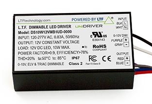 DS10WUD 10W UniDriver Universal Input 120-277V AC True Tri Mode Dimmable ELV Triac 0-10V LED Driver Power Supply