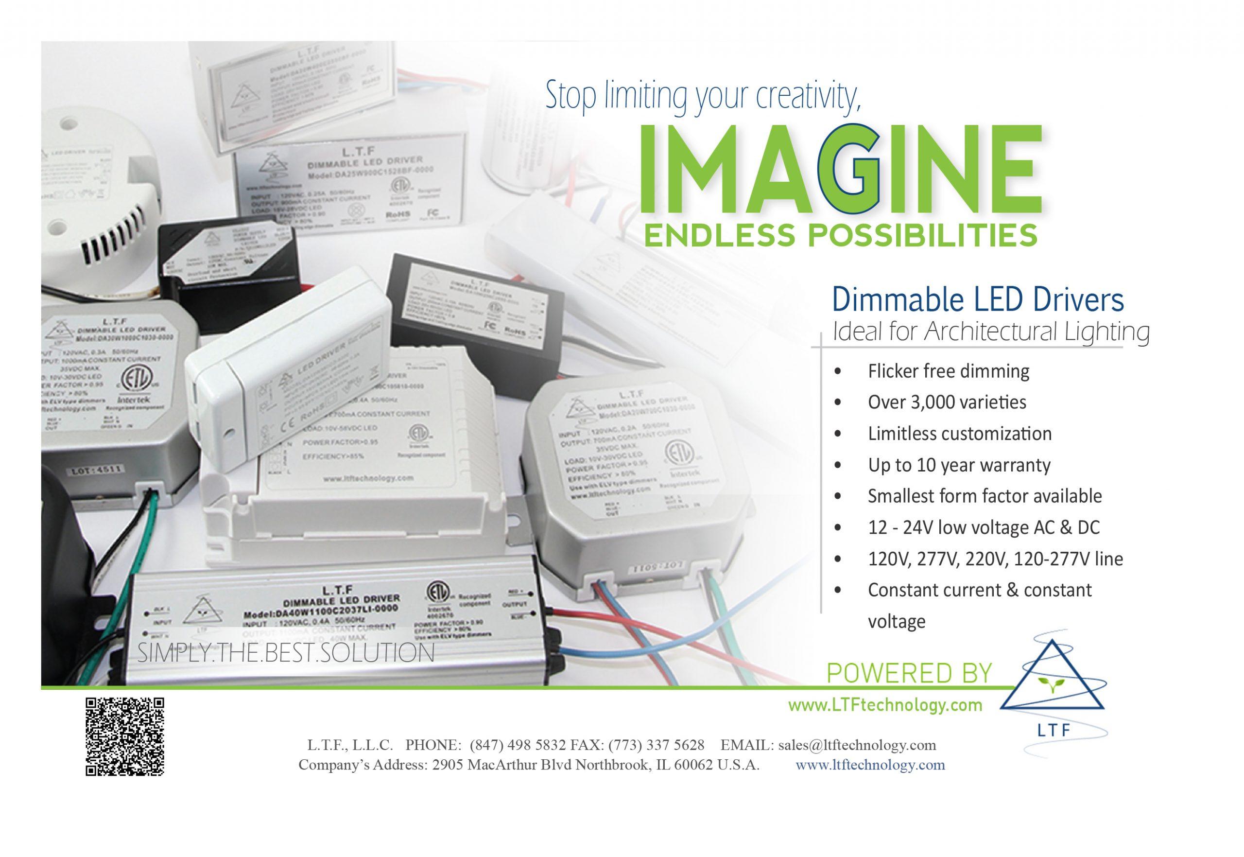 LTF SunLight2 Architectural Grade Dim to Warm High CRI LED Bulbs Print Ad Lighting and Decor Magazine